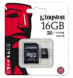 Kingston microSDHC 16GB Class 10 UHS-I SDC10G2/16GB