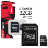 Kingston Kingston 32GB MicroSDXC UHS-I - Memóriakártya Adapterrel (SDC10G2/32GB)