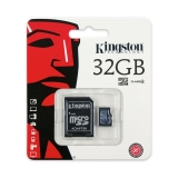 KINGSTON MicroSDHC 32GB CLASS 4 Memóriakártya + Adapter (SDC4/32GB)