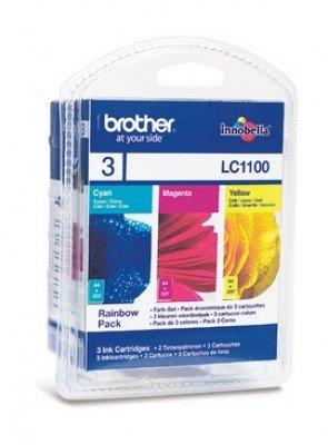 Brother LC1100 Multipack (Cyan, Magenta, Yellow) (LC1100RBWBPDR)